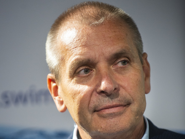 Na snímke prezident Slovenskej plaveckej federácie Ivan Šulek