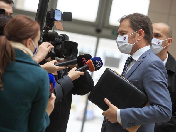 Igor Matovič pred médiami