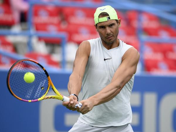 Španielsky tenista Rafael Nadal počas tréningu pred štartom turnaja Citi Open vo Washingtone