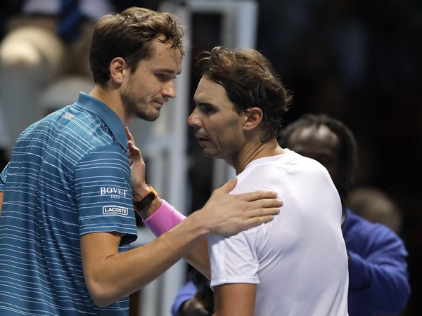 Daniil Medvedev a Rafael Nadal