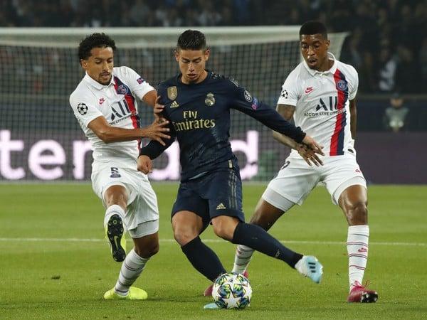 James Rodriguez z Realu Madrid a Marquinhos a Presnel Kimpembe z PSG