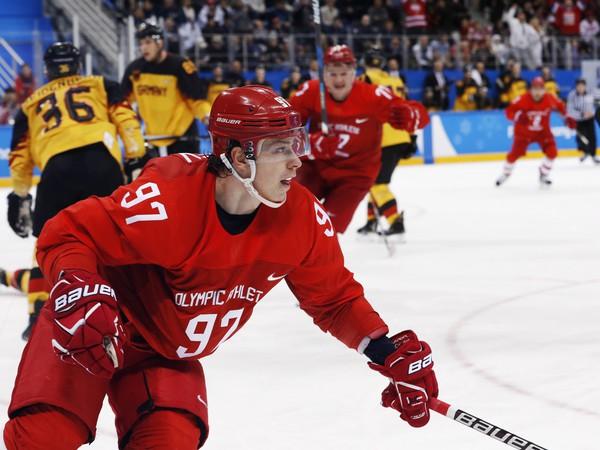 Nikita Gusev v drese národného mužstva Ruska