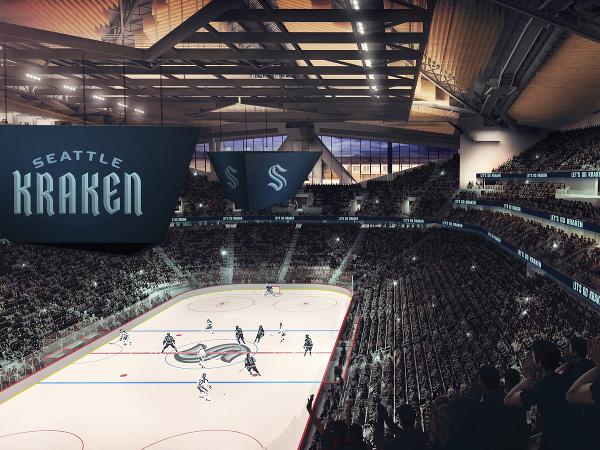 Na grafickej snímke je logo a názov nového klubu zámorskej hokejovej NHL, ktorý sa bude volať Seattle Kraken