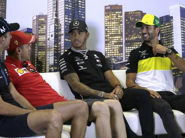 Štvorica Latifi, Vettel, Hamilton a Ricciardo
