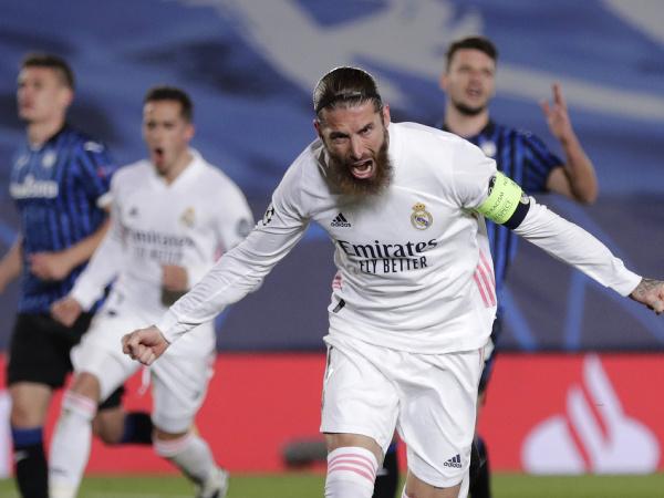 Sergio Ramos pri oslave gólu
