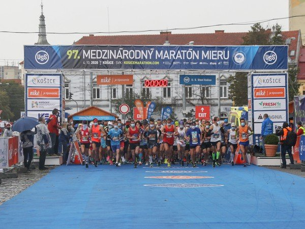 Štart lanského 97. ročníka Medzinárodného maratónu mieru v Košiciach