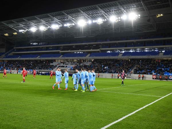 Gólové oslavy futbalistov ŠK Slovan Bratislava