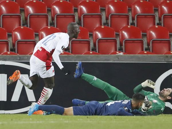 Abdallah Sima dáva vedúci gól Slavie