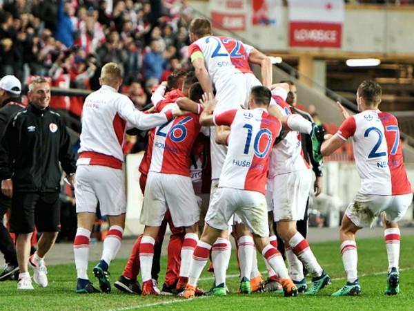 Víťazné oslavy futbalistov pražskej Slavie