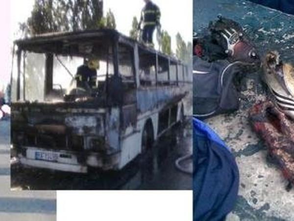 Zhorený autobus Dorastencov Slovana