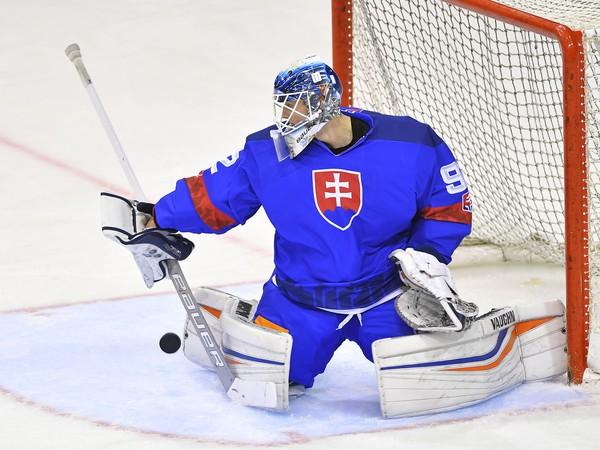 Na snímke brankár Andrej Košarišťan (Slovensko)