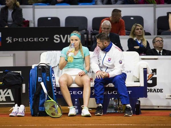 Rebecca Šramková a tréner Matej Lipták
