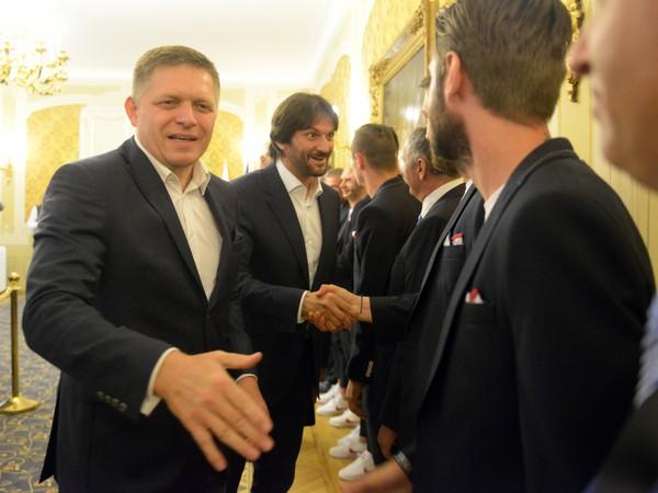 Premiér Robert Fico prijal reprezentantov do 21 rokov po majstrovstvách Európy v Poľsku