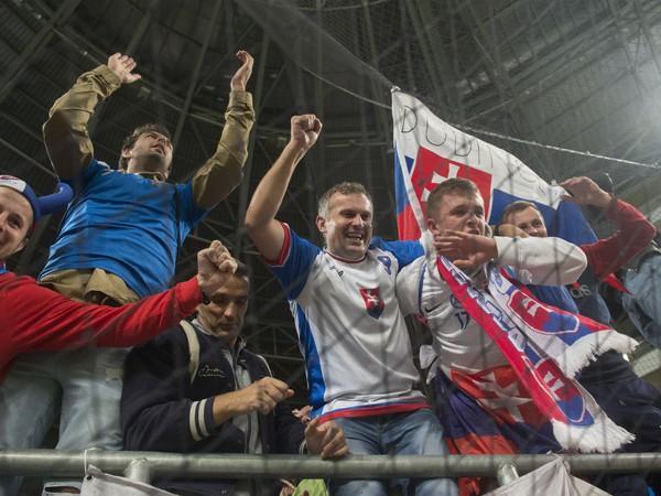 Slovenskí fanúšikovia v Budapešti