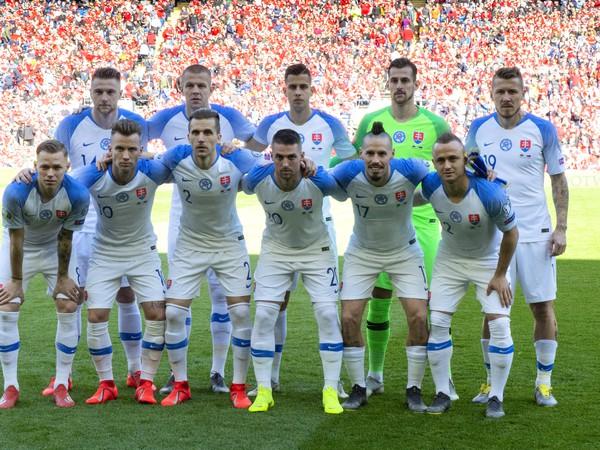 Reprezentácia Slovenska pred zápasom