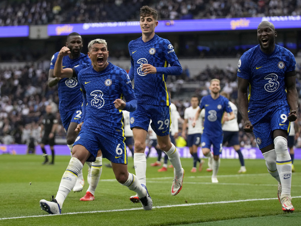 Radosť futbalistov Chelsea Londýn