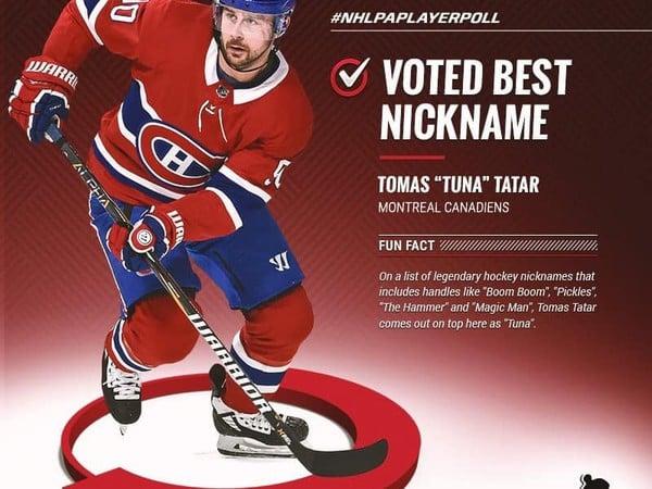 Tomáš Tatar vyhral ocenenie za top prezývku
