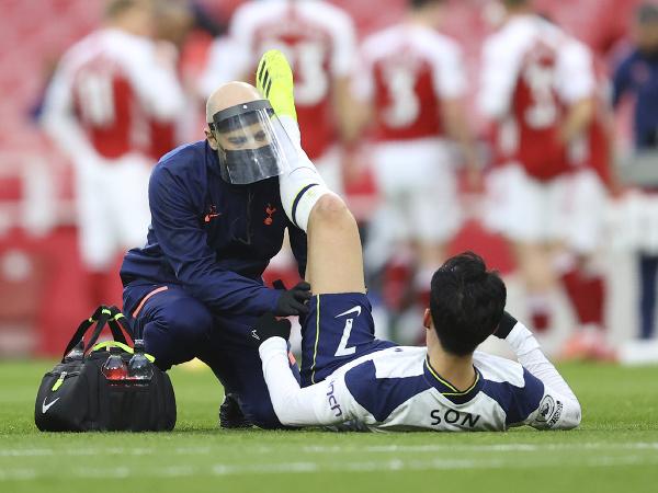 Zranený Son Heung-Min
