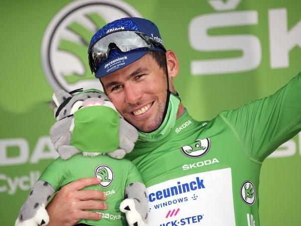 Mark Cavendish v cieli 10. etapy Tour de France