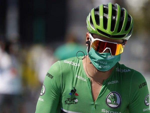 Slovensk� cyklista Peter Sagan v zelenom drese
