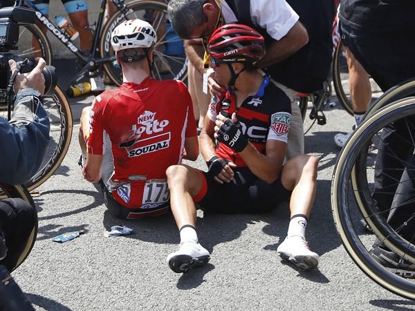 Richie Porte po tvrdom páde končí na Tour de France