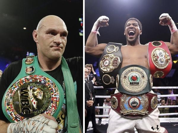 Tyson Fury a Anthony Joshua
