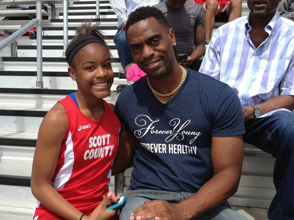 Tyson Gay a jeho dcéra Trinity