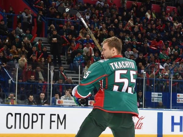 Vladimir Tkachyov počas zápasu hviezd KHL 2017