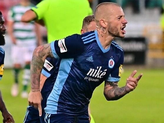 Vladimír Weiss ml. sa raduje z gólu