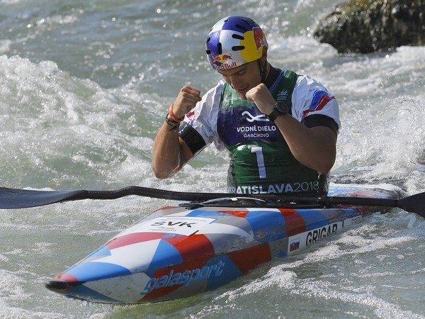 Na snímke slovenský vodný slalomár Jakub Grigar