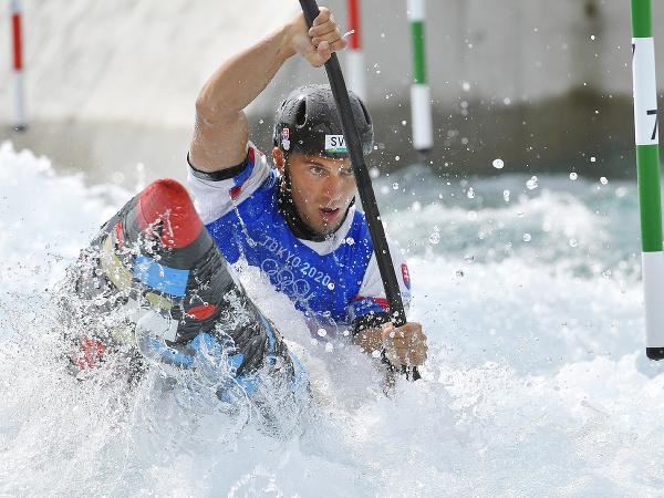 Na snímke slovenský reprezentant vo vodnom slalome Jakub Grigar