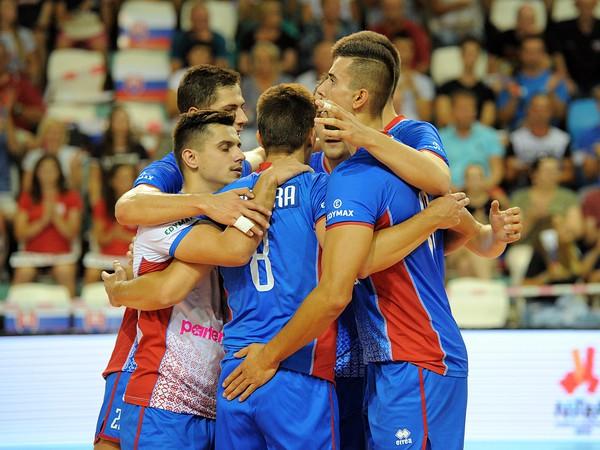 Víťazné oslavy slovenských vojebalistov