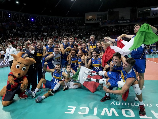 Talianski volejbalisti sa v Katoviciach stali majstrami Európy