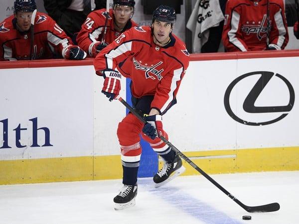 Slovenský hokejový reprezentant v drese Washingtonu Capitals Zdeno Chára