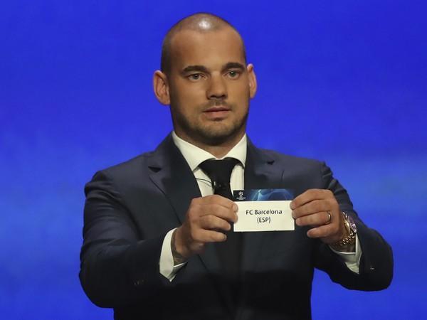 Wesley Sneijder pri žrebe skupinovej fázy Ligy majstrov