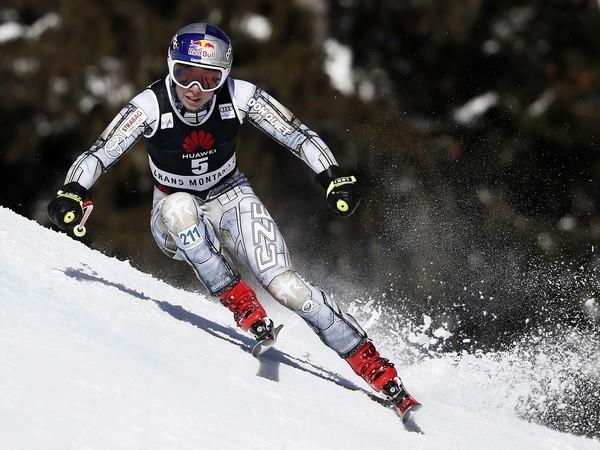 Na snímke česká lyžiarka Ester Ledecká počas zjazdu žien Svetového pohára vo švajčiarskom stredisku Crans Montana