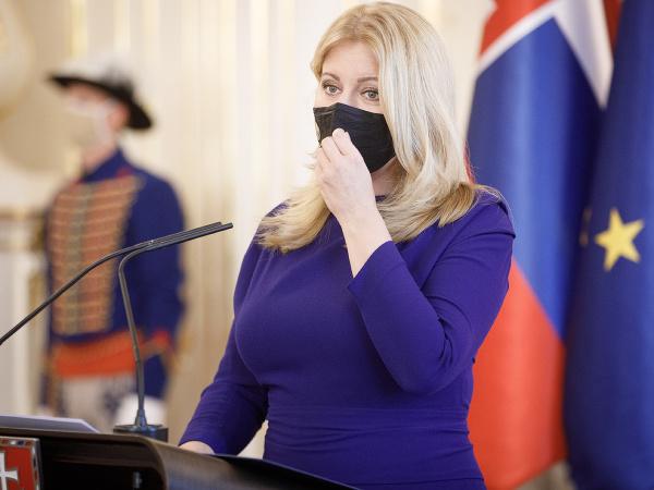 Preziednka SR Zuzana Čaputová počas prijatia členov slovenskej paralympijskej výpravy, ktorí získali medaily na XVI. letných paralympijských hrách v Tokiu