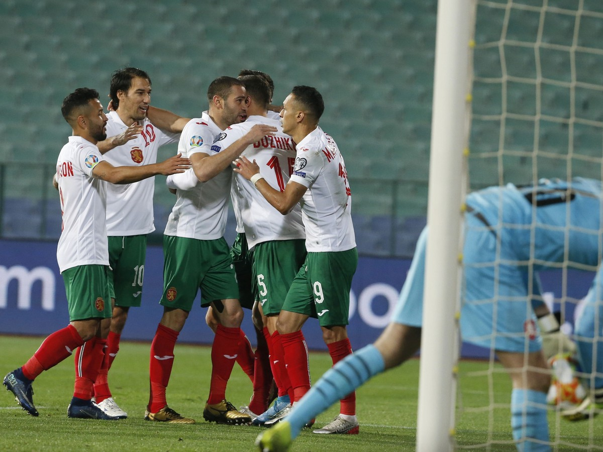 Gólové oslavy futbalistov Bulharska