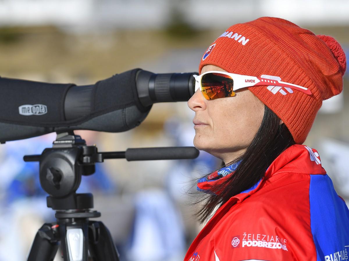Na snímke slovenská biatlonová