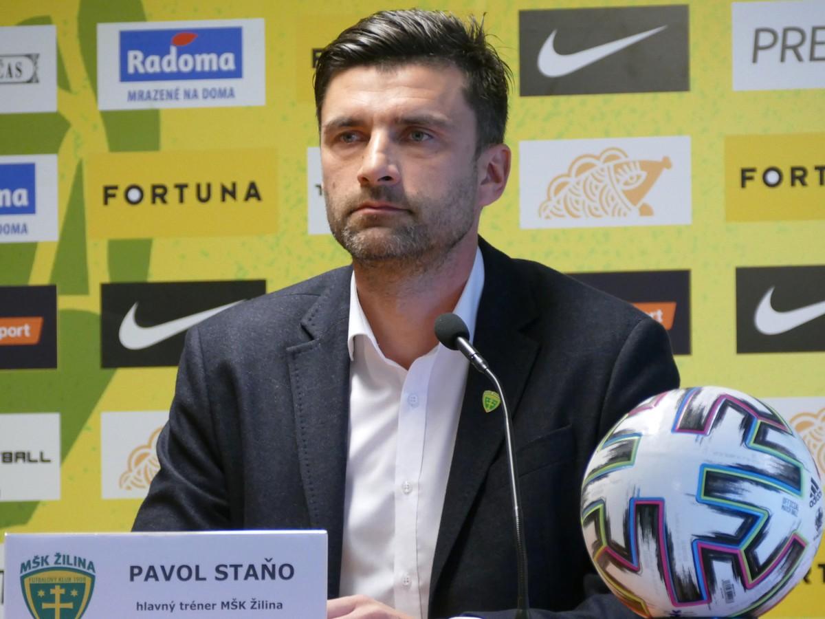 Tréner Žiliny Pavol Staňo