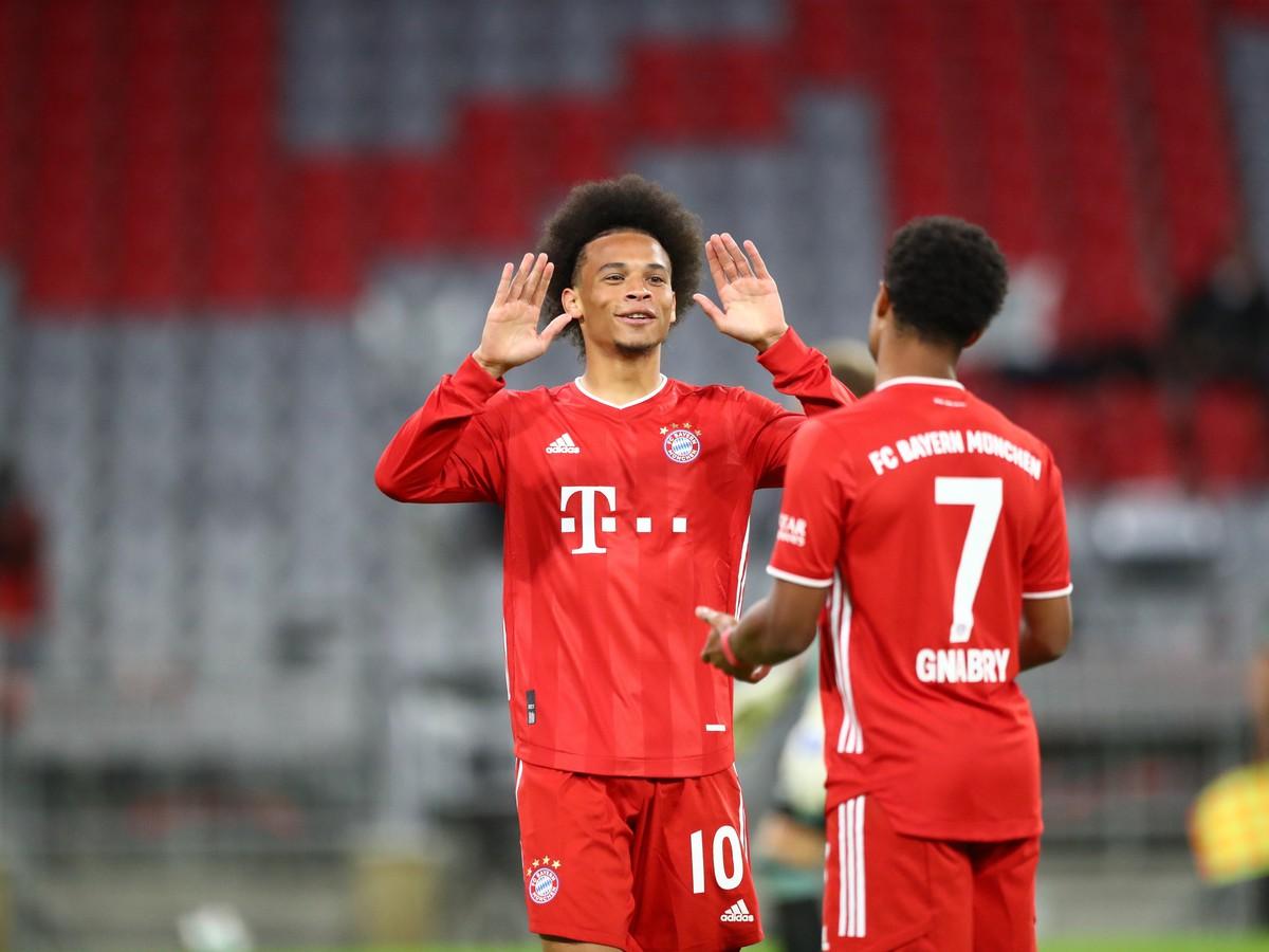 Leroy Sané oslavuje gól