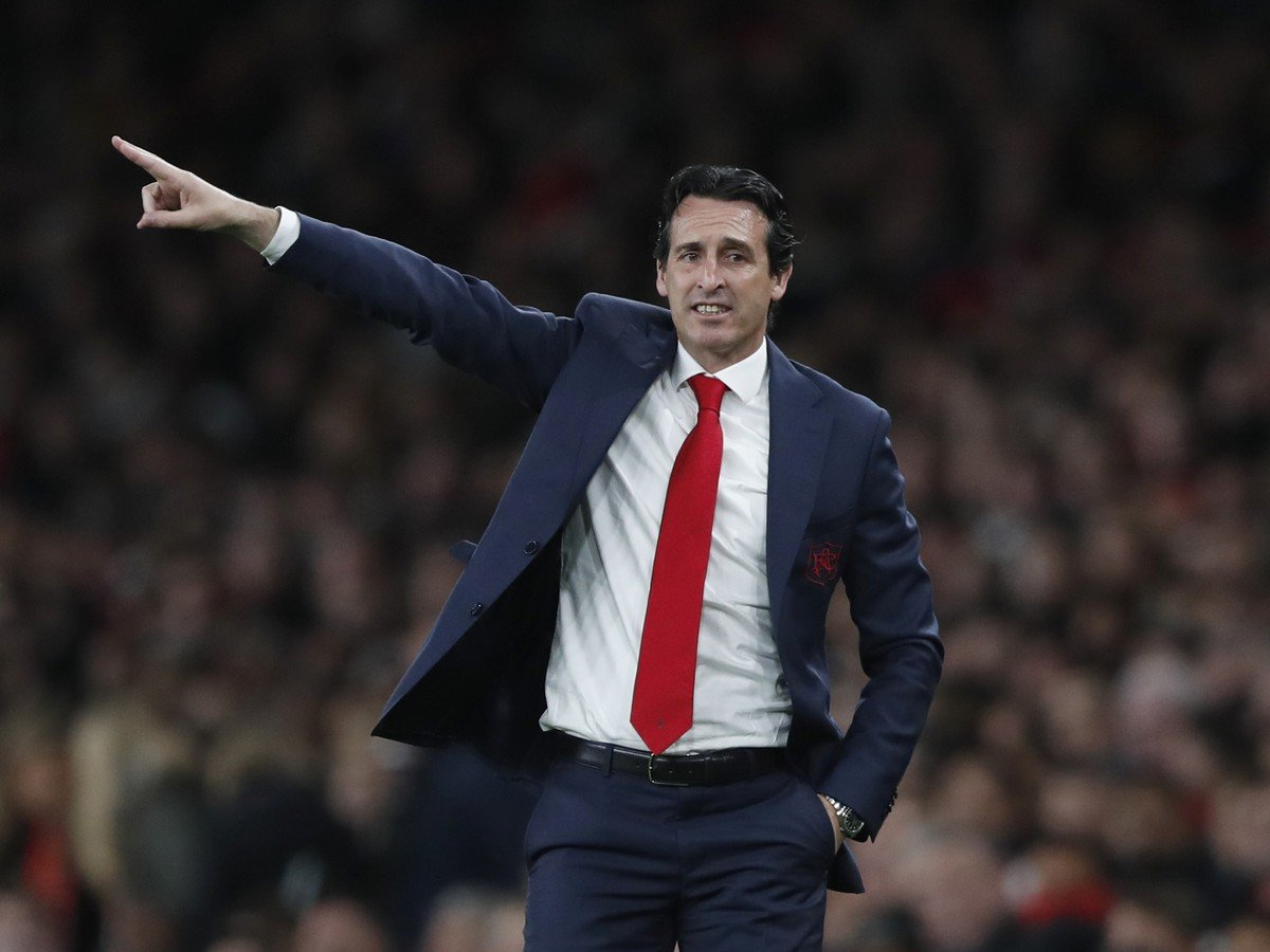 Kouč Arsenalu Unai Emery