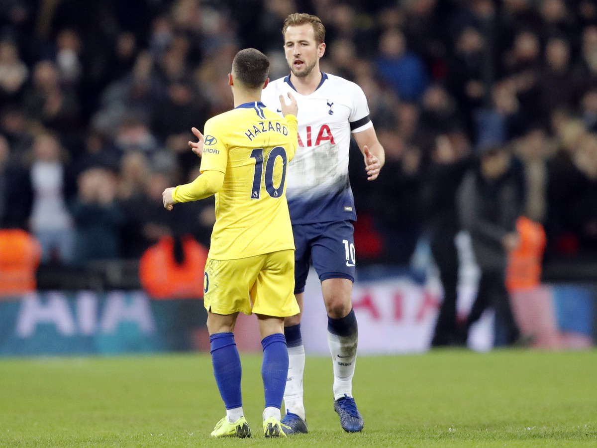 Harry Kane a Eden Hazard