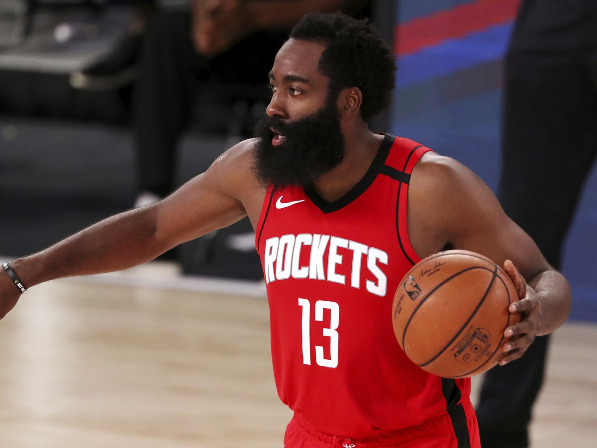 Basketbalista Houstonu Rockets James Harden