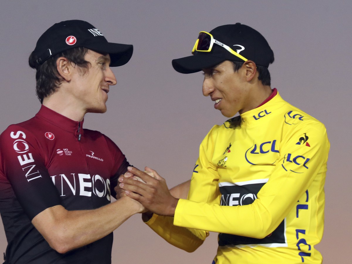 Geraint Thomas a Egan Bernal
