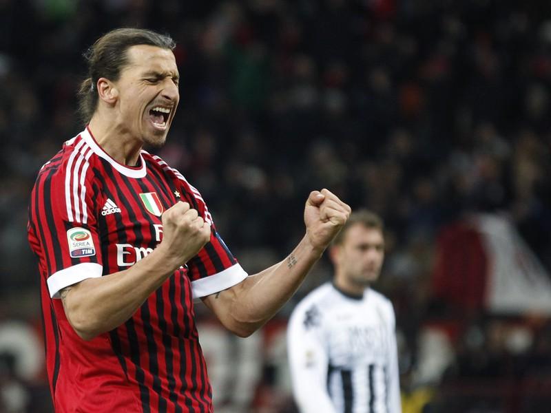Zlatan Ibrahimovič v drese AC Miláno