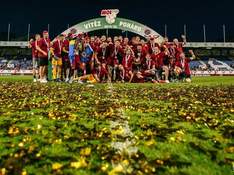 Pohárové oslavy futbalistov pražskej Sparty