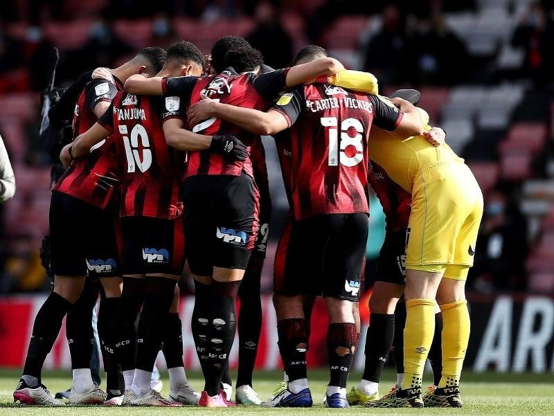 Hráči AFC Bournemouth po vyhratom zápase