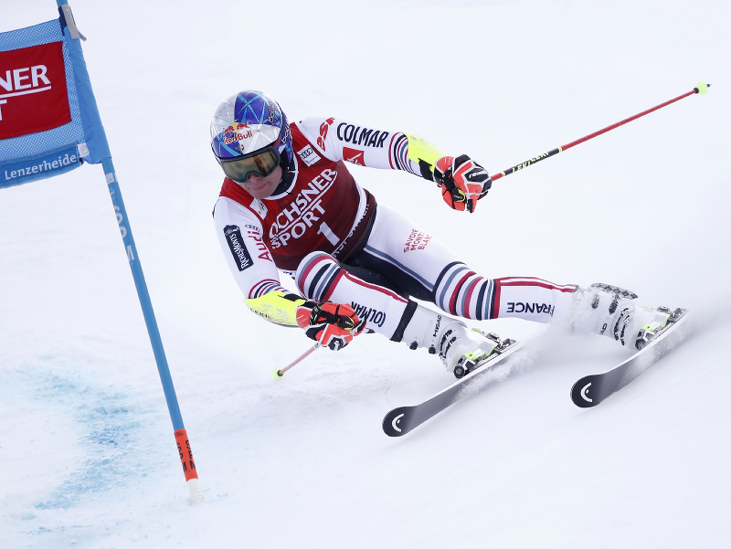 Alexis Pinturault počas obrovského slalomu v Lenzerheide