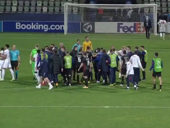Konflikt hráčov po zápase Chorvátska s Anglickom